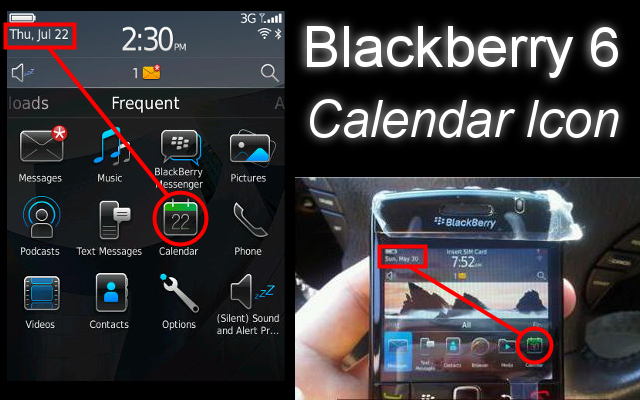 Blackberry 6 Calendar Icon
