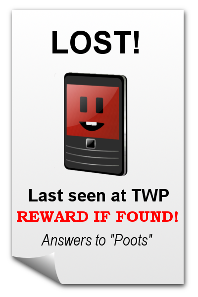 Help! Poots is missing!
